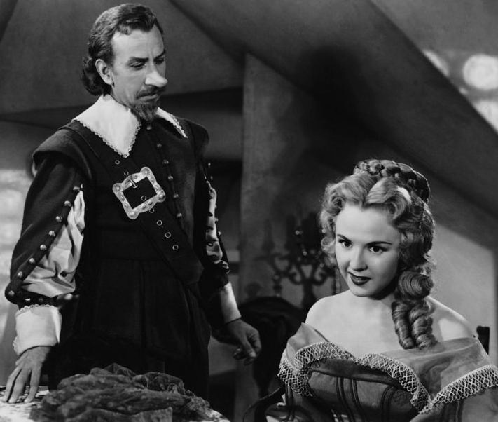 Mala Powers & José Ferrer in Cyrano de Bergerac, 1950. Credit: Public Domain