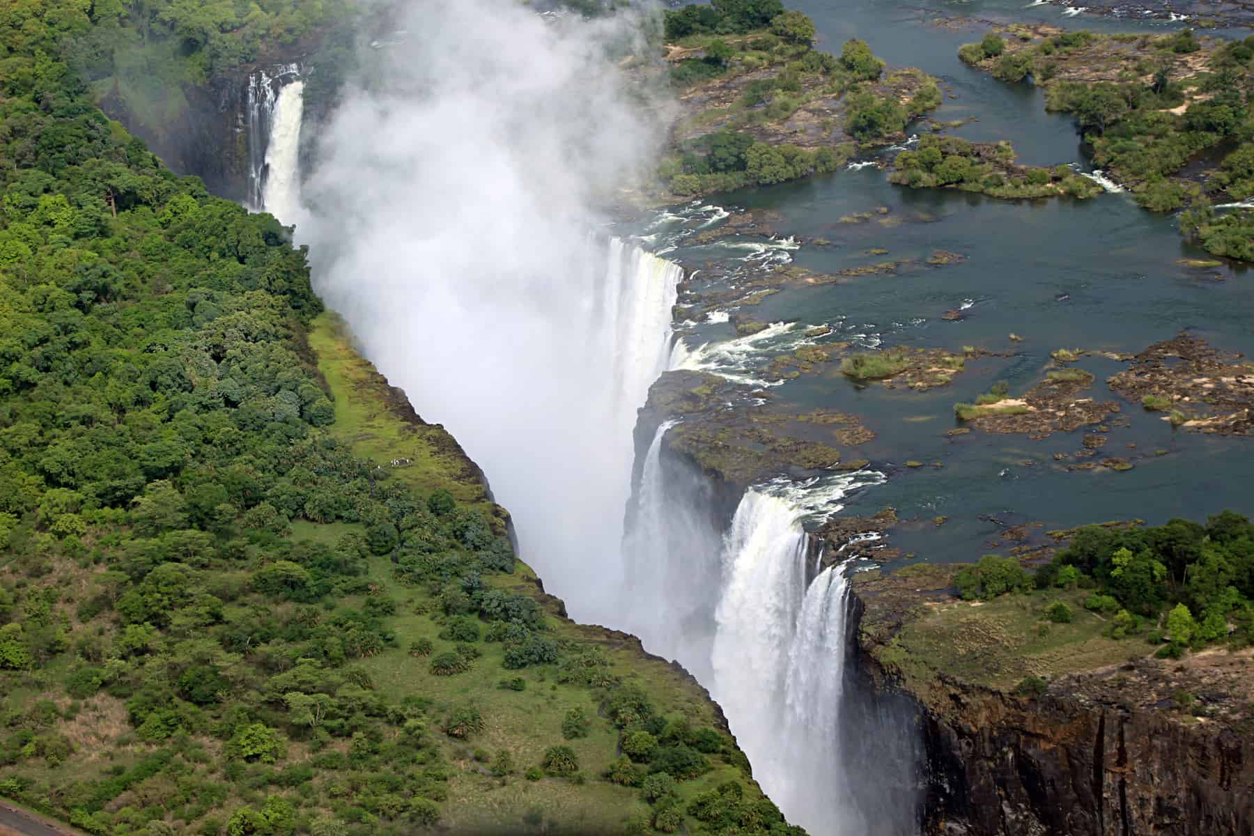 Victoria Falls on the Zambezi River. In the Zambezi basin, water is abundant but there are challenges in getting that water to the people who need it, particularly as the population grows in the future. (cc) Pius Mahimbi | Flickr