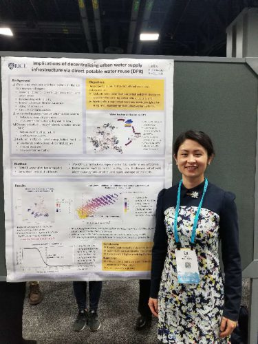 Lu Liu at 2018 AGU poster session
