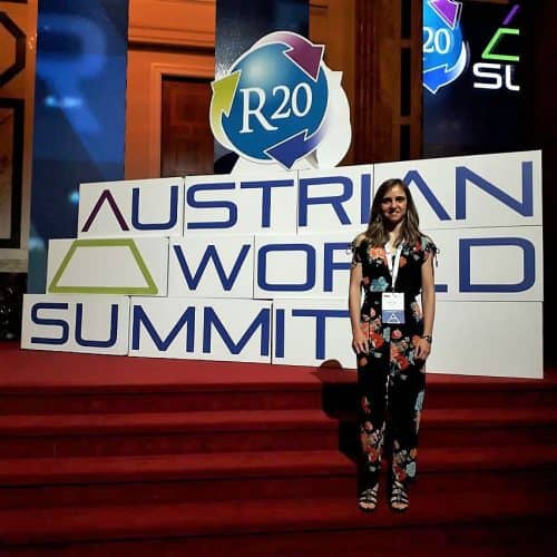 Beatriz Mayor at the Austrian World Summit